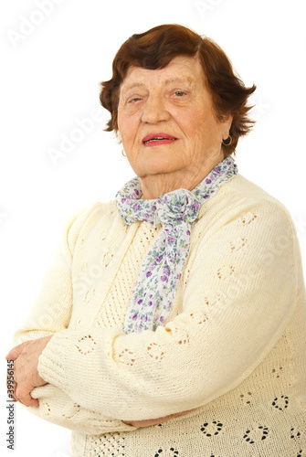 Smiling senior woman portrait