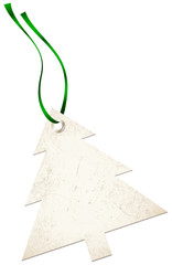 Christmas Hangtags Tree Green Bow