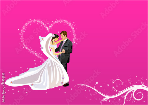 Verliebtes Hocheitspaar