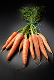 Organic grown carrots