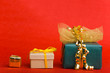 Drei Geschenke nebeneinander