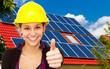 Solarenergie - Daumen hoch