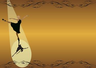 Elegant ballet-Spotlight