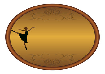 Elegant ballet-Oval frame