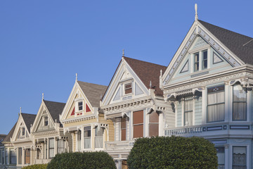 Victorian houses.