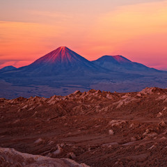 volcanoes Licancabur and Juriques, Chile