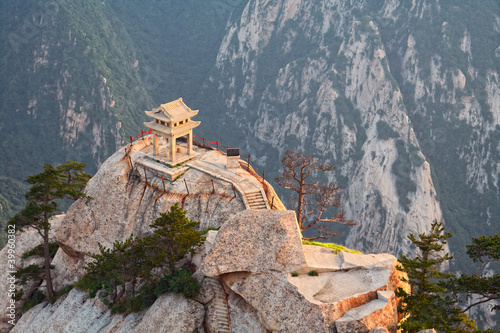 stone pagoda on the holy mountain HuaShan, China