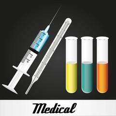 medical elements over black