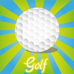 golf ball on color lines