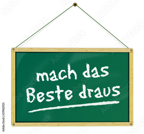Holztafel Motivation