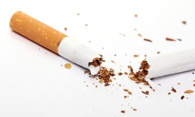 Cigarette over white background
