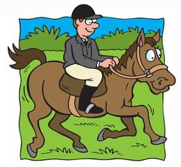 Man horseriding