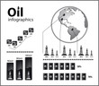 Infographics in oil / fuel style vector