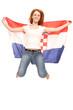 Weiblicher Kroatien Fan