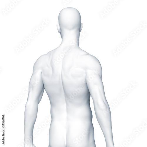 Silhouette des Mannes – Rücken