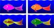Fische 4x eins