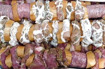 Spiedini di carne alla Toscana