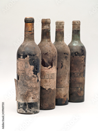 bottles with old wine