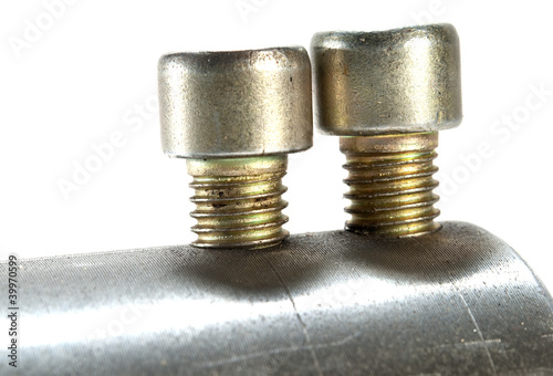 two rustic screw-bolt