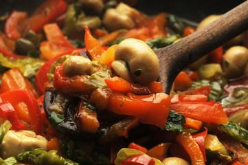 Mushroom pepper sauce Salsa di funghi e peperoni