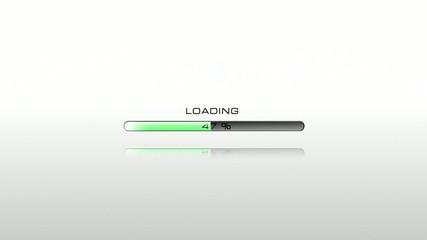 Green loading bar