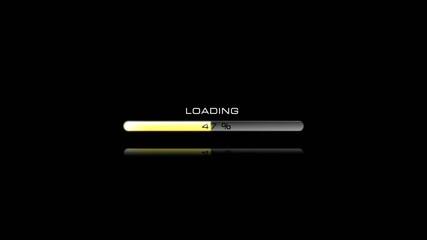 Yellow loading bar