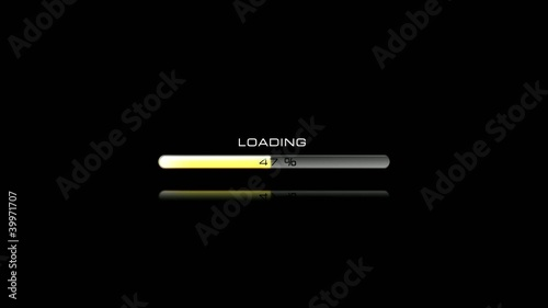 Yellow loading bar