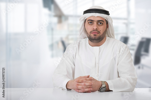 successful arabian businessman / executive in office