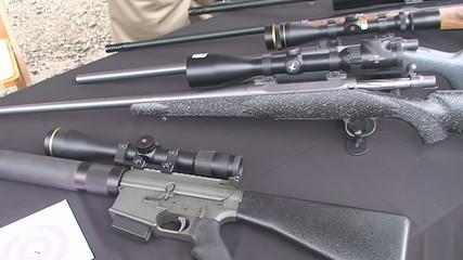 Real guns close-up
