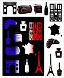 France picture and b-w hallmarks poster
