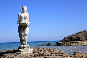 Mermaid statue, Zante island, Greece