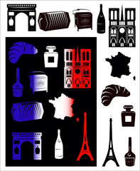 France picture and b-w hallmarks