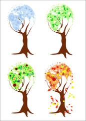 Four seasons world-trees