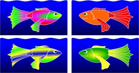 Fische 4x zwei