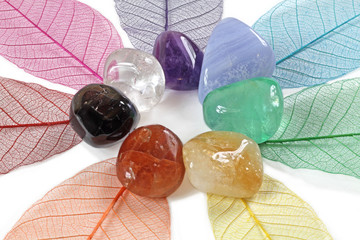 Chakra stones, close up