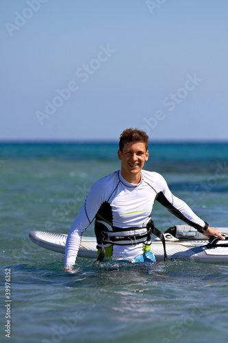 Happy windsurfer