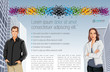 Template for advertising brochure with man and woman in the city