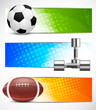Set of sport banners