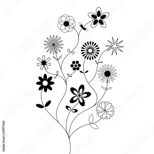 Fleurs noir et blanc stock photo photostockworld Fleur noir et blanc