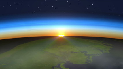 Beautiful Sunrise on Earth
