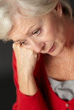 Senior woman suffering from depression
