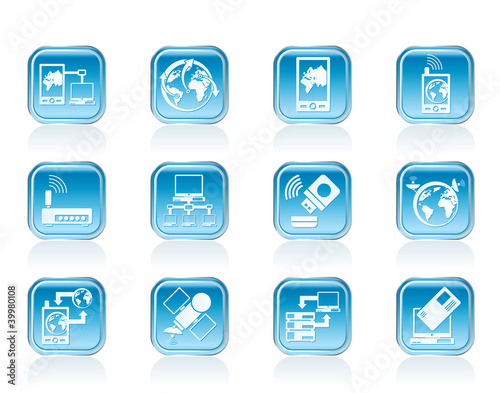 communication, computer and mobile phone icons