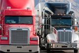 Fototapety 2 two trucks truck fleet