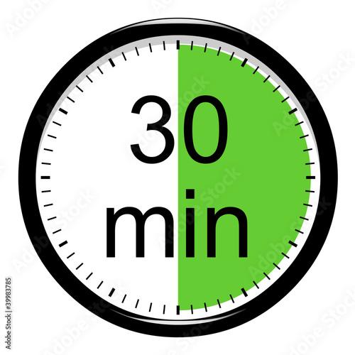 Leinwanddruck Bild Minuterie - 30 minutes