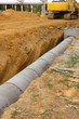 Leinwanddruck Bild - Concrete drainage tank on construction site