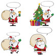 Santa Claus Cartoon Characters With Spech Bubble