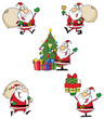 Santa Claus Cartoon Style Characters