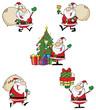 Santa Claus Cartoon Style Characters