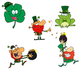 Leprechaun Characters.  Collection