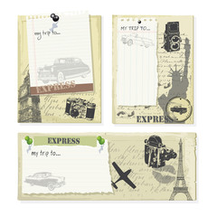 trip tag with vintage elements